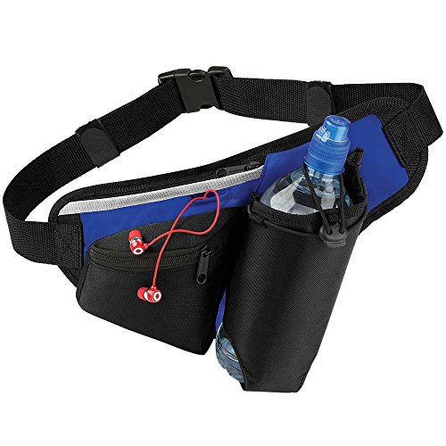 Quadra Teamwear Hydro Belt Bag Black/Bright Royal