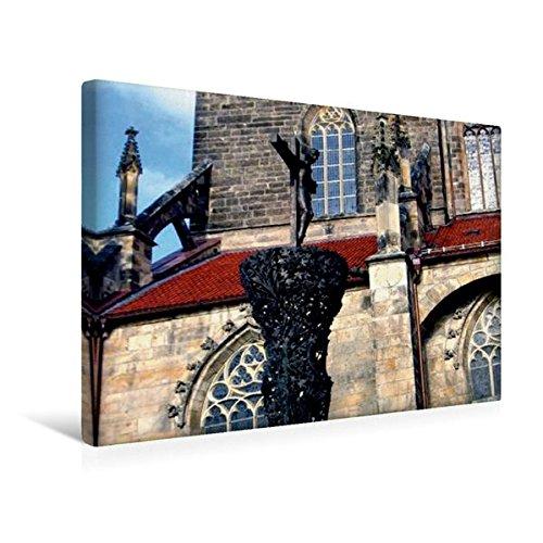 Calvendo Premium Textil-Leinwand 45 cm x 30 cm Quer, Die Bürgerkirche St. Andreas ist Eine der...