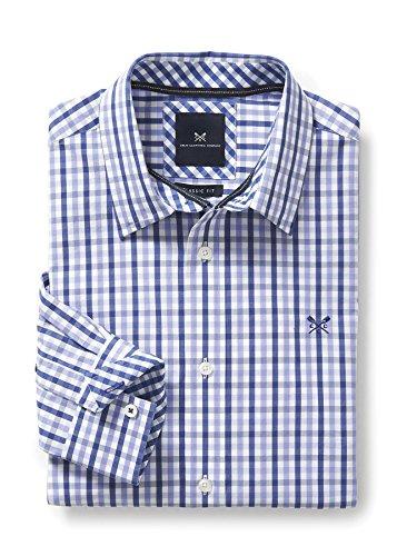 Crew Clothing Herren Freizeithemd Classic Fit Blue (Periwinkle/Ultramarine)