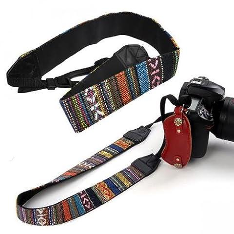 SODIAL(R) Vintage Camera Shoulder Strap Neck Straps For DSLR Nikon Canon Sony Panasonic