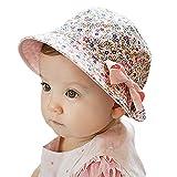Chapeau Bob De Soleil Bébé Enfant Fille Coton Noeud Papillon Rose