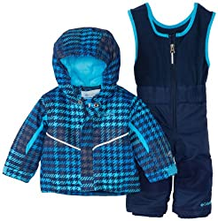 Columbia Boy's Buga Set Ski Jacket - Blue (Collegiate Navy Houndstooth), Size 1218