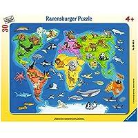 Ravensburger 06641 - Puzzle Cadre - Animaux du Monde - 30 Pièces