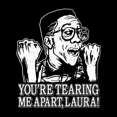 Tearing Me Apart Laura The Room Family Matter Urkel Women's Vest Black
