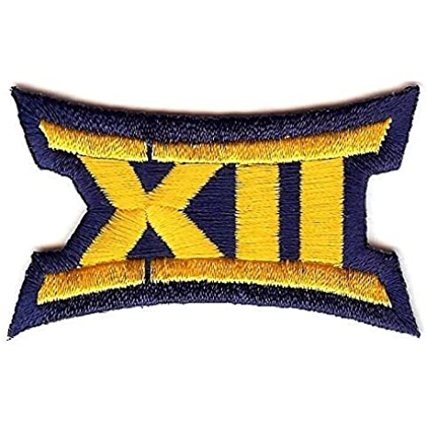 Big 12 XII Conference Team Jersey Uniform Patch West Virginia Mountaineers by Patch Collection