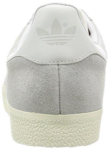 adidas - Gazelle, Scarpe da Ginnastica Unisex Adulto Grigio (Clear Onix/White/Gold Met)
