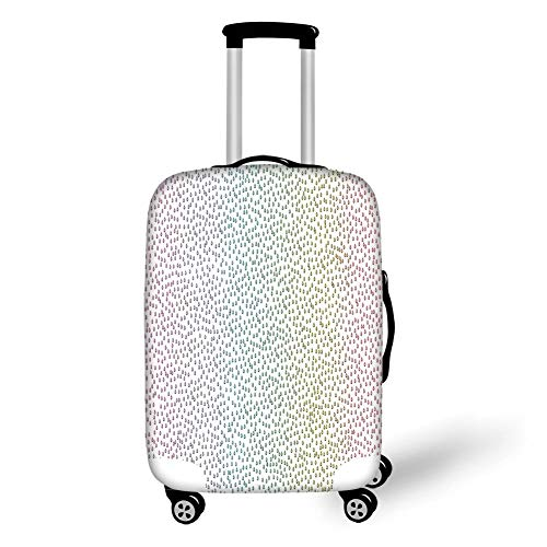 Travel Luggage Cover Suitcase Protector,Farmhouse Decor,Gradient Downpour Figure in Large Spectrum Spotted Little Liquids Wet Home Decor,Multi,for Travel,L -