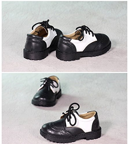 Scothen Baby Mokassins Krippe Schuhe Lederpuschen Hausschuhe Kindergartenschuhe Krabbelschuhe Schläppchen Lauflernschuhe Baby Junge Krippe Schuhe Kleinkind Gentleman Elegante Party Schuhe Schwarz-Weiß