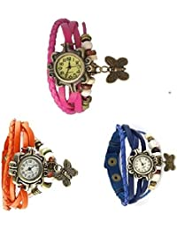 Rokcy Vintage Fancy Style Leather Analog Watch - For Women Watch - For Girls