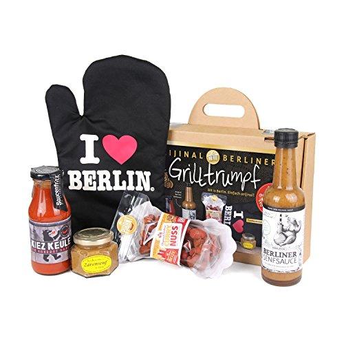 Orijinal Berliner 120007 Koffer - ,,Grilltrumpf' Geschenkset, bunt, 6-teilig (1 Set)