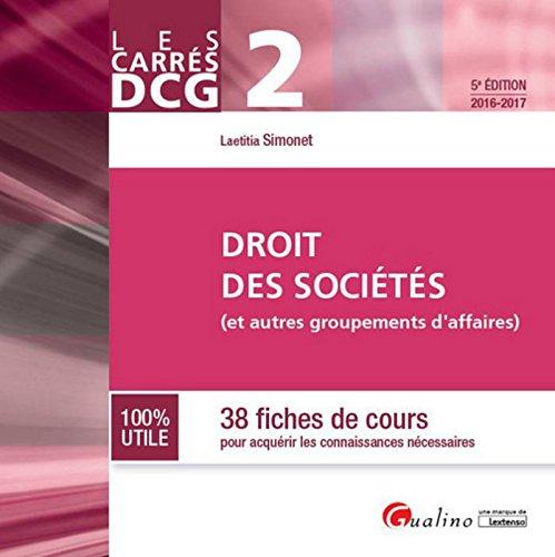 Carrés DCG 2 - Droit des sociétés 2016-2017, 5ème
