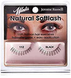 jerome russell Winks Natural Lashes, Black, 112