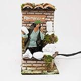 Joy Christmas Pastore per Presepe in Movimento 14 cm x 9 cm Venditore di Formaggi