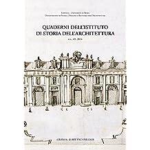 ITA-QUADERNI DELLISTITUTO DI S (Quaderni Dell'istituto Di Storia Dell'architettura)