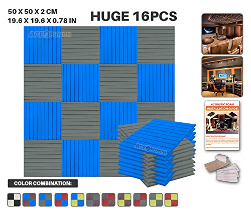 ace-punch-16-pack-2-colors-flat-wedge-acoustic-foam-panel-diy-design-studio-soundproofing-wall-tiles