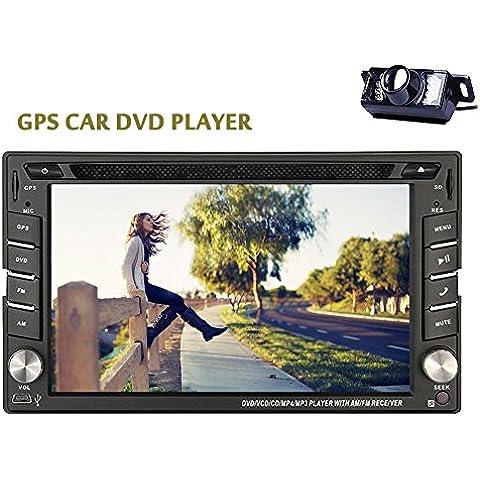 ?Telecamera posteriore inclusa nella schermata EinCar GPS Navi tocco resistente Audio Radio Automotive Autoradio BT Musica Car Stereo In Deck stereo universale 2 DIN Video Monitor Car DVD Player EQ Subwoofer iPod Car