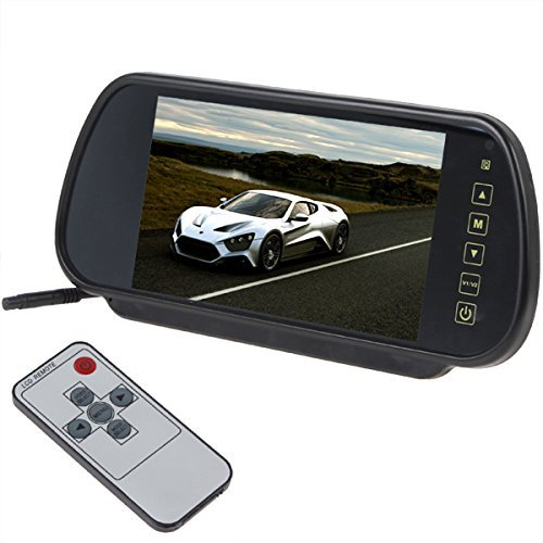 7 Inch 16 9 Tft Led Car Rearview Monitor Mirror Withtouch On Remote Control Bluetooth Connectivity Sd Card Usb And Support Two Ways Of