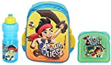HMI Disney Junior 14 Litres 3D Embossed Kids Backpack, Baby Boys Girls Toddler Pre School Kindergarten Play School Backpack Bag, Light Weight & Soft material, in Disney Junior Characters (Jake and The Neverland Pirates Combo)