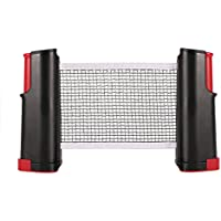 Table Tennis Net - Tenis de Mesa Ping Pong Support, Herramienta de Red retráctil para Entrenamiento (Color : Black and Red)