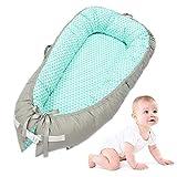 Baby Nest (Größe: 80 X 50 Cm), Baby Multifunktionales Still-Nest, Etagenbett, Reisebett, 100% Baumwolle, Anti-Allergie, Herausnehmbar Und Waschbar (Color : A)