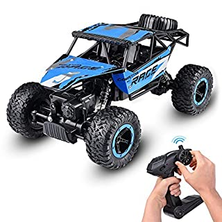 Abco Tech 1:14 RC Jeep Rock Crawler Monster Truck Remote Car Dune Racer - Nickel Cadmium Battery AA - 4 WD Electric RC - Powerful Motor with Built-in Rechargeable Battery - 50 m Control Distance