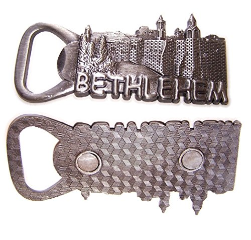 Zinn-Heavy Krippe Kirche von Bethlehem-Flaschenöffner-Magnet Souvenir