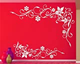 #8: Lovely Flower and vine For bedroom walls wall decal and sticker size(90*59)cm