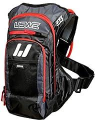USWE Sports A4 Challenge Hydropack 201240 - Mochila de hidratación para adultos (450 x 320 x 80 cm 15 litros de capacidad) color rojo y negro