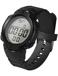 Ihee inspirée l'usure très confortable Mode étanche pour homme garçon LCD Digital Chronomètre Date en caoutchouc Sport Montre bracelet NEUF Mode M noir