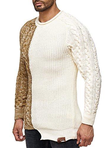 17402 TAZZIO Herren Pullover Ecru