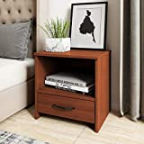 Amazon Brand - Solimo Antares Engineered Wood Bedside Table (Sienna Cherry Finish)