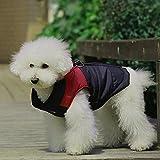 SUPEREX® Pet Dog Coat coats Jacket Hundemantel wasserdicht Winterjacke,Regenmantel Hund Hundebekleidung Hundejacke Warm Wintermantel gepolstert (Rot,S) - 4