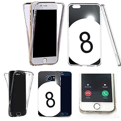360° Silikonhülle Vorne+Hinten Schutzhülle tasche für apple iphone 6 & 6s 8 ball