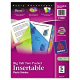 Best Avery Dividers - Avery : Worksaver Big Tab Plastic Dividers, Two Review