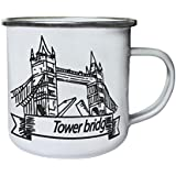 Nuevo I Love London Tower Bridge Retro, lata, taza del esmalte 10oz/280ml m479e