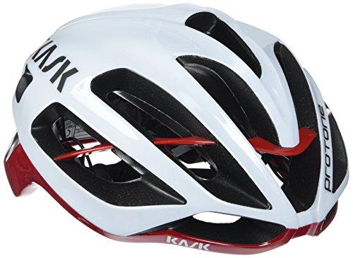 Kask Protone – Fahrradhelm Medium weiß - Weiß/Rot