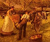 La Thangue Henry Herbert A Sussex Orchard A3 Box Canvas Print