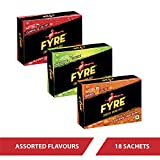 Fyre Energy Drink Mix - Assorted Flavours (18x4.5g) - Pack of 18 Sachets
