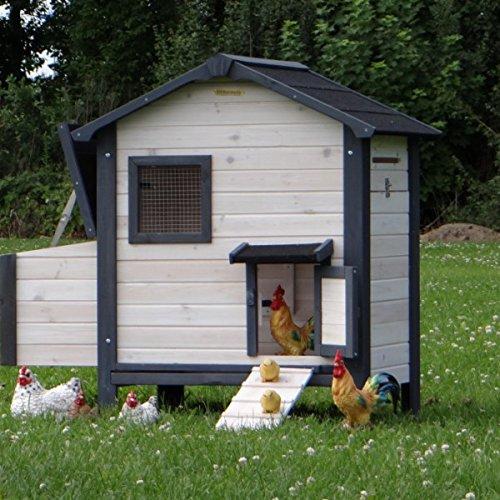 Hühnerstall Nadine mit praktischer Schublade 125x75x114cm