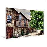 Premium Textil-Leinwand 120 cm x 80 cm quer, Energiezentrale | Wandbild, Bild auf Keilrahmen, Fertigbild auf echter Leinwand, Leinwanddruck (CALVENDO Orte)