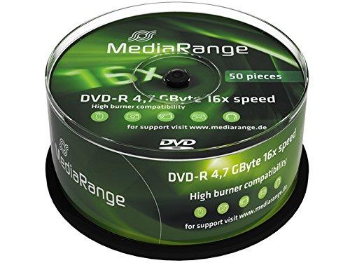 Mediarange mr444 confezione dvd-r, argento