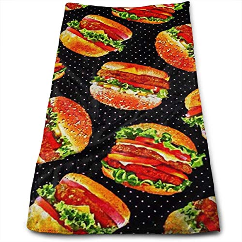 2019 New Hand Towels Burger Highly Absorbent Quick-Dry Towels for Hand Face Gym and Spa 12