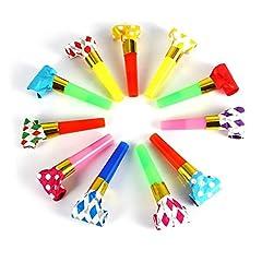Idea Regalo - 30Pcs Fischio Pop Decorazioni Dei Regali Dei Giocattoli Per Cremagliera E Compleanno Dei Bambini, (Multi Colori)