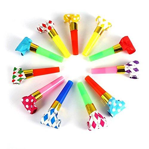 El partido de cumpleaños de los niños multicolores 30Pcs Partido Blowouts sopla juega el regalo adorna las decoraciones