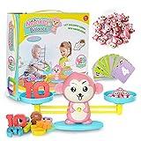 ZMH Baby Kids Math Spielzeug AFFE Balance Spiel Skala Früherziehung Gewicht Kind Kinder Intelligenz...