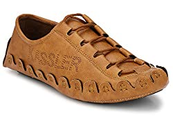 Andrew Scott Mens Tan Synthetic Leather Loafers - 901Tan_10