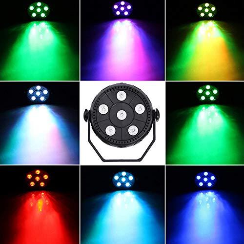 ENUOLI 6 LED-Stadiums-Licht-Gleichheits-Licht 3 in 1-Ton aktivierte Wäsche-Licht RGB-Par-Disco-Partei-Lichteffekt-Lampe für Wand-Dekor-Dance Floor Disco Bar Club Konzert Karaoke Show Startseite -