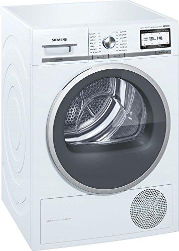 Siemens WT48Y7W4 Autonome Charge avant 9kg A+++ Blanc - sèche-linge (Autonome, Charge avant, Condensation, Blanc, boutons, Rotatif, Droite)