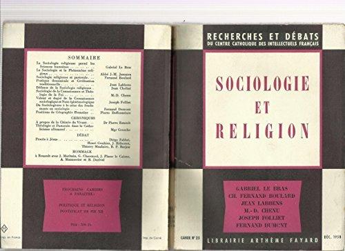 Sociologie et religion.