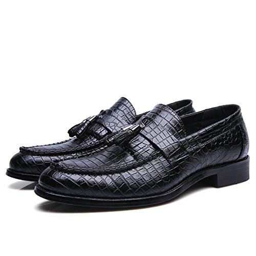 Men's Zapatos Hombre Leather Oxford Shoes 605 black